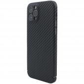 Husa Fibra Carbon Nevox pentru Apple iPhone 12 Pro Max, MagSafe, Neagra