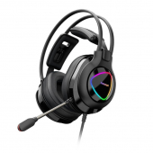 Casti Gaming Tronsmart Glary Alpha RGB, cu microfon si telecomanda, 3.5 mm, Negre 370406