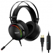 Casti Gaming Tronsmart Glary RGB, cu microfon si telecomanda, USB, Negre 333620