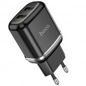 Incarcator Retea USB HOCO N4, 2 X USB, 2.4A, Negru