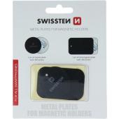 Placa Metalica Swissten, pentru suport auto magnetic, 2 Modele, Neagra