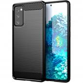 Husa TPU OEM Carbon pentru Samsung Galaxy S20 FE G780/ Samsung Galaxy S20 FE 5G, Neagra