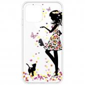 Husa TPU OEM Antisoc Painted Girl pentru Apple iPhone 12 mini, Multicolor