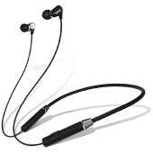 Casti Bluetooth Lenovo HE08, Neckband Sport, Negre