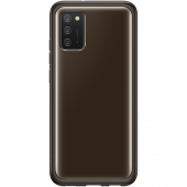 Husa TPU Samsung Galaxy A02s A025F, Clear Cover, Neagra EF-QA026TBEGEU