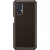 Husa TPU Samsung Galaxy A32 5G A326, Clear Cover, Neagra, Blister EF-QA326TBEGWW
