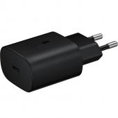 Incarcator Retea USB Samsung Fast Charge, 25W, 1 X USB Tip-C, Negru EP-TA800NBEGEU