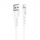 Cablu Date si Incarcare USB la Lightning BLUE Power BDU01 Novel, 1 m, 2.4 A, Alb