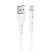 Cablu Date si Incarcare USB la MicroUSB BLUE Power BDU01 Novel, 1 m, 2.4 A, Alb