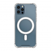 Husa TPU OEM MagSafe Magnetic Antisoc pentru Apple iPhone 12 Pro Max, Transparenta