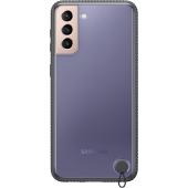 Husa Plastic Samsung Galaxy S21+ 5G, Clear Protective Cover, Neagra, Blister EF-GG996CBEGWW