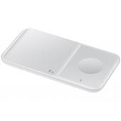 Incarcator Retea Wireless Samsung Duo EP-P4300, Pentru Telefon / Ceas / Casti QI, Fast Wireless, 9W, Varianta cu Incarcator Priza, Alb EP-P4300TWEGEU