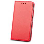 Husa Piele OEM Smart Magnet pentru Samsung Galaxy A32 5G A326, Rosie