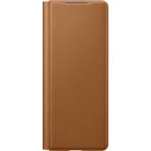 Husa Piele Samsung Galaxy Z Fold2 5G F916, Leather Flip Cover, Maro EF-FF916LAEGEU
