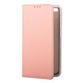 Husa Piele OEM Smart Magnet pentru Samsung Galaxy A32 5G A326, Roz Aurie