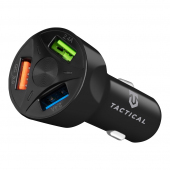 Incarcator Auto USB Tactical LZ-337, 3 x USB, 18W, Quick Charge, Negru