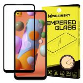 Folie Protectie Ecran WZK pentru Samsung Galaxy A11 / Samsung Galaxy M11, Sticla securizata, Full Face, Full Glue, Neagra