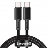 Cablu Date si Incarcare USB Type-C la USB Type-C Baseus, 2 m, 100 W, 5 A, Negru CATGD-A01