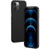 Husa Piele Baseus pentru Apple iPhone 12 Pro Max, MagSafe, Neagra