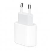 Incarcator Retea USB Apple MHJE3ZM, 1 X USB Tip-C, 20W, Alb MHJE3ZM