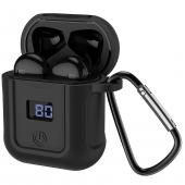 Handsfree Casti Bluetooth HOCO SELECTED Melody S11, SinglePoint, cu Baterie Externa (400mAh), Afisaj LED, Negru, Resigilat, Blister