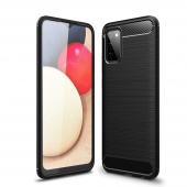 Husa TPU Tech-Protect Carbon pentru Samsung Galaxy A02s A025F, Neagra
