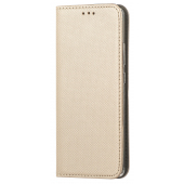 Husa Piele OEM Smart Magnet pentru Samsung Galaxy A52 5G, Aurie