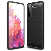 Husa TPU OEM Carbon pentru Samsung Galaxy S21+ 5G, Neagra, Bulk