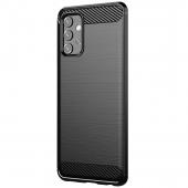 Husa TPU OEM Carbon pentru Samsung Galaxy A52 5G, Neagra