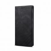 Husa Piele OEM Skin Feel Magnetic pentru Samsung Galaxy S20 FE G780 / Samsung Galaxy S20 FE 5G G781, cu suport carduri, Neagra