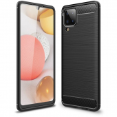 Husa TPU OEM Carbon pentru Samsung Galaxy A12 A125, Neagra
