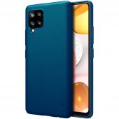 Husa Plastic Nillkin Super Frosted pentru Samsung Galaxy A42 5G, Peacock Blue, Albastra