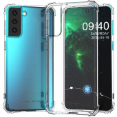 Husa TPU WZK Military Antisoc pentru Samsung Galaxy S21+ 5G, Transparenta, Blister