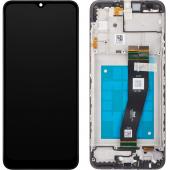 Display - Touchscreen Samsung Galaxy A02s A025G, Cu Rama, Negru GH81-20181A