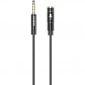 Cablu Audio 3.5 mm la 3.5 mm Dudao L11S, AUX, Tata - Mama, TRRS, 1 m, Negru