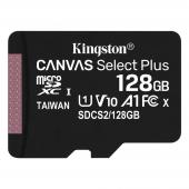 Card Memorie MicroSDXC Kingston Canvas Select Plus, 128Gb, Clasa 10 / UHS-1 U1, 100 MB/s SDCS2/128GBSP