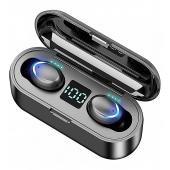 Handsfree Casti Bluetooth OEM F9-5C, SinglePoint, Negru