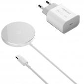 Incarcator Retea Wireless Dudao A12XS, MagSafe, Quick Charge, 15W, Alb