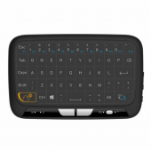 Tastatura Wireless OEM H18, 2.4GHz, Qwerty, Touchpad, Neagra