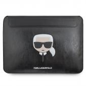 Husa Laptop Karl Lagerfeld Sleeve, pentru MacBook Air/Pro, Neagra KLCS133KHBK