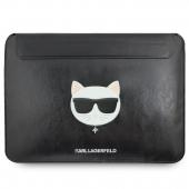 Husa Laptop Karl Lagerfeld Choupette Sleeve, pentru MacBook Air/Pro, Neagra KLCS133CHBK