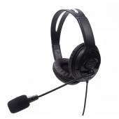 Casti Calculator Tellur Basic PCH2, Over Ear, Cu microfon, USB, Negre TLL491151