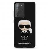 Husa TPU Karl Lagerfeld Iconik Full Body pentru Samsung Galaxy S21 Ultra 5G, Neagra KLHCS21LSLFKBK