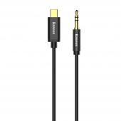 Cablu Audio USB Type-C la 3.5 mm Baseus Yiven M01, 1.2 m, Negru CAM01-01