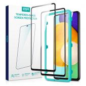 Folie Protectie Ecran ESR pentru Samsung Galaxy A52 A525 / Samsung Galaxy A52 5G, Sticla securizata, Full Face, Edge Glue, Shield 3D, Set 2 buc, Neagra