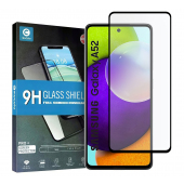 Folie Protectie Ecran Mocolo pentru Samsung Galaxy A52 A525 / Samsung Galaxy A52 5G, Sticla securizata, Full Face, Full Glue, 2.5D, 0.3mm, 9H, Neagra