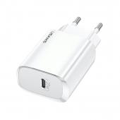 Incarcator Retea USB Usams T39, 1 X USB Tip-C, Quick Charge, 20W, Alb CC131TC02