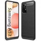 Husa TPU OEM Carbon pentru Samsung Galaxy A52 A525, Neagra