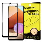 Folie Protectie Ecran WZK pentru Samsung Galaxy A32 LTE A325, Sticla securizata, Full Face, Full Glue, Neagra