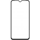 Folie Protectie Ecran OEM pentru Samsung Galaxy A02s A025F, Sticla securizata, Full Face, Full Glue, 9D, Neagra